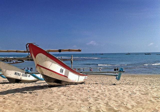Perahu nelayan di Pantai Tambakrejo
