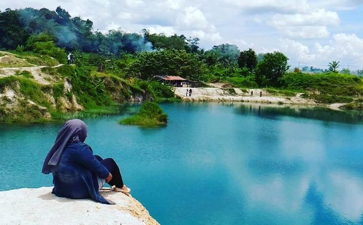 Wisata alam Telaga Biru di Cianjur